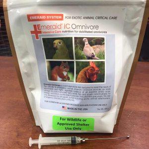 bag of EmerAid IC Omnivore with syringe