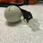snake by golf ball